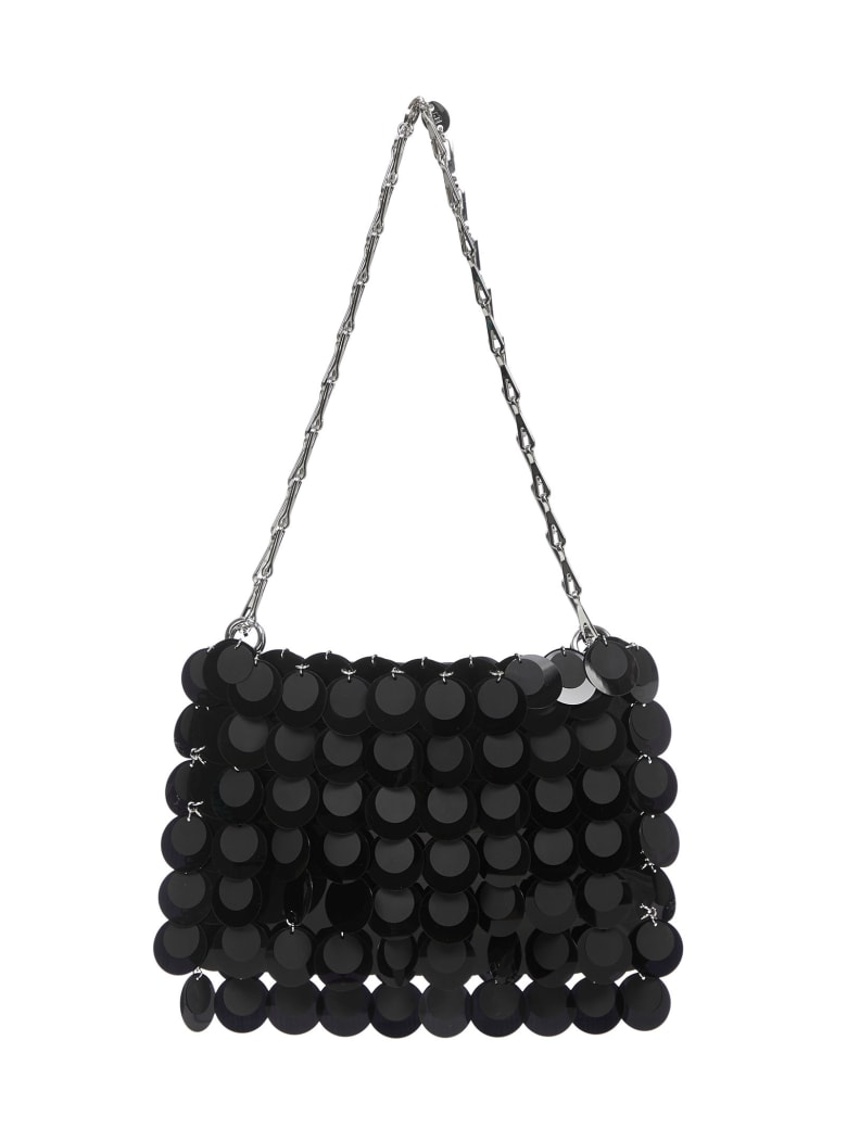 Paco Rabanne Hobo Shoulder Bag - Black