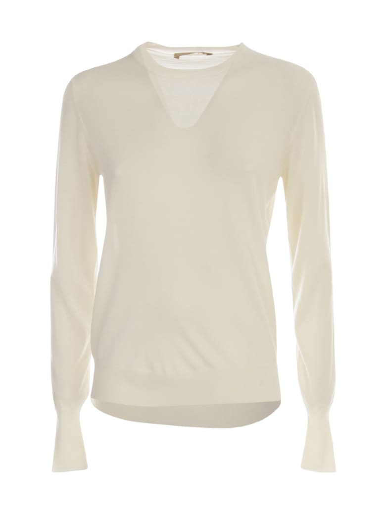 Nuur Round Neck 100% Merino Wool Sweater - Panna