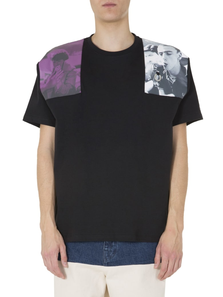 Fred Perry by Raf Simons Oversize Fit T-shirt - NERO