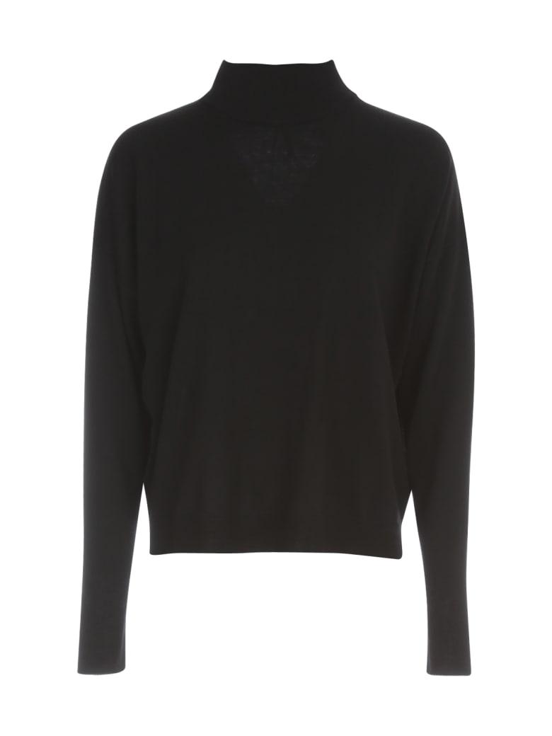 PierAntonioGaspari Short High Neck Sweater L/s - Nero