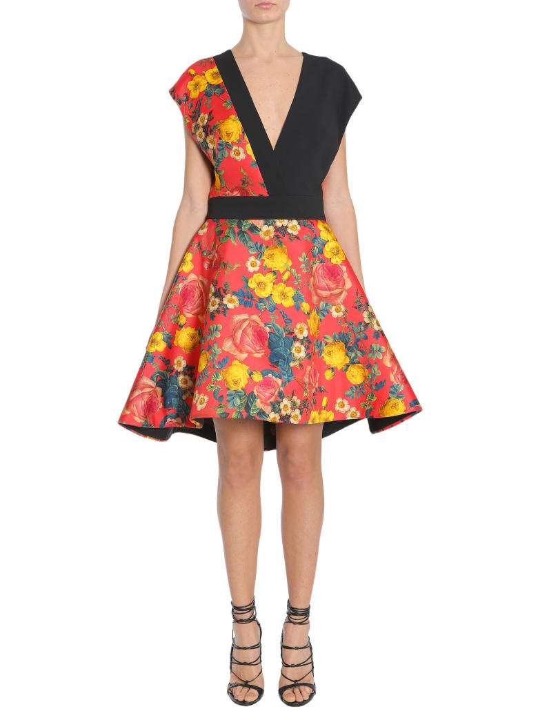 Fausto Puglisi V Collar Dress - MULTICOLOR