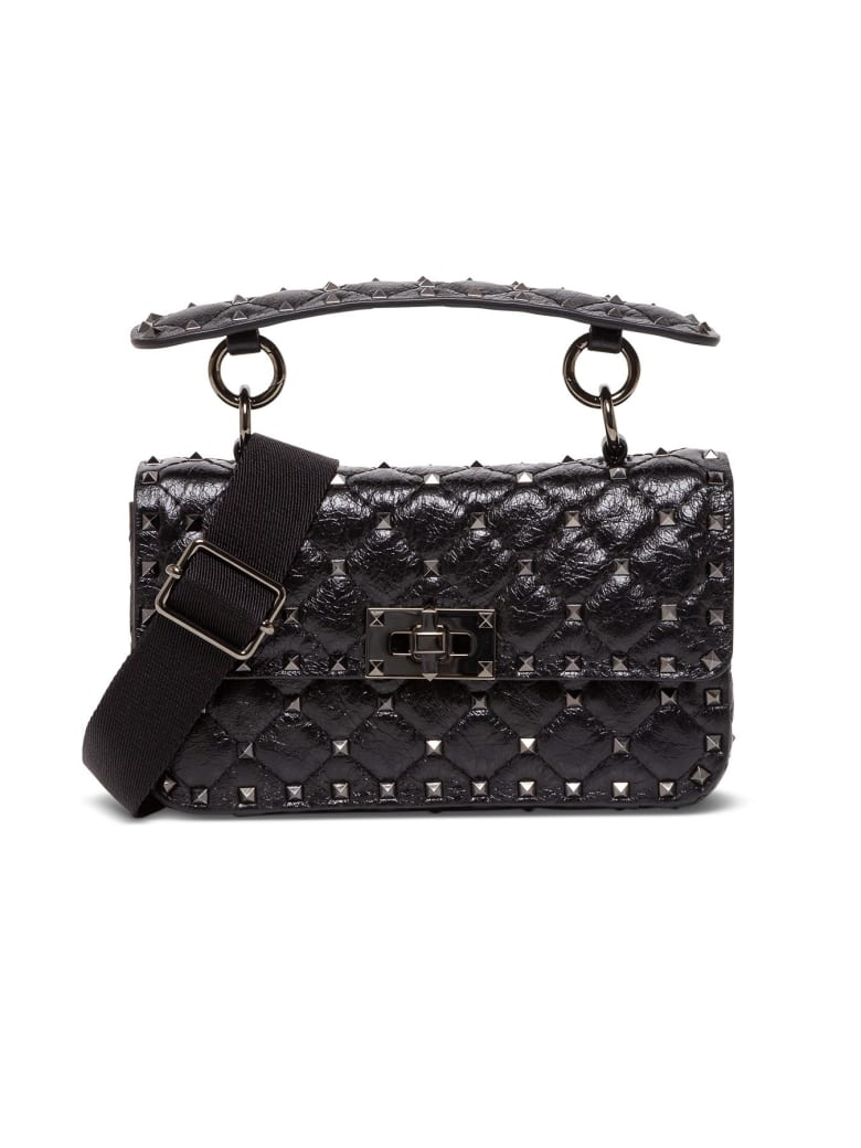 Valentino Garavani Spike Rocksud Shoulder Bag - Nero