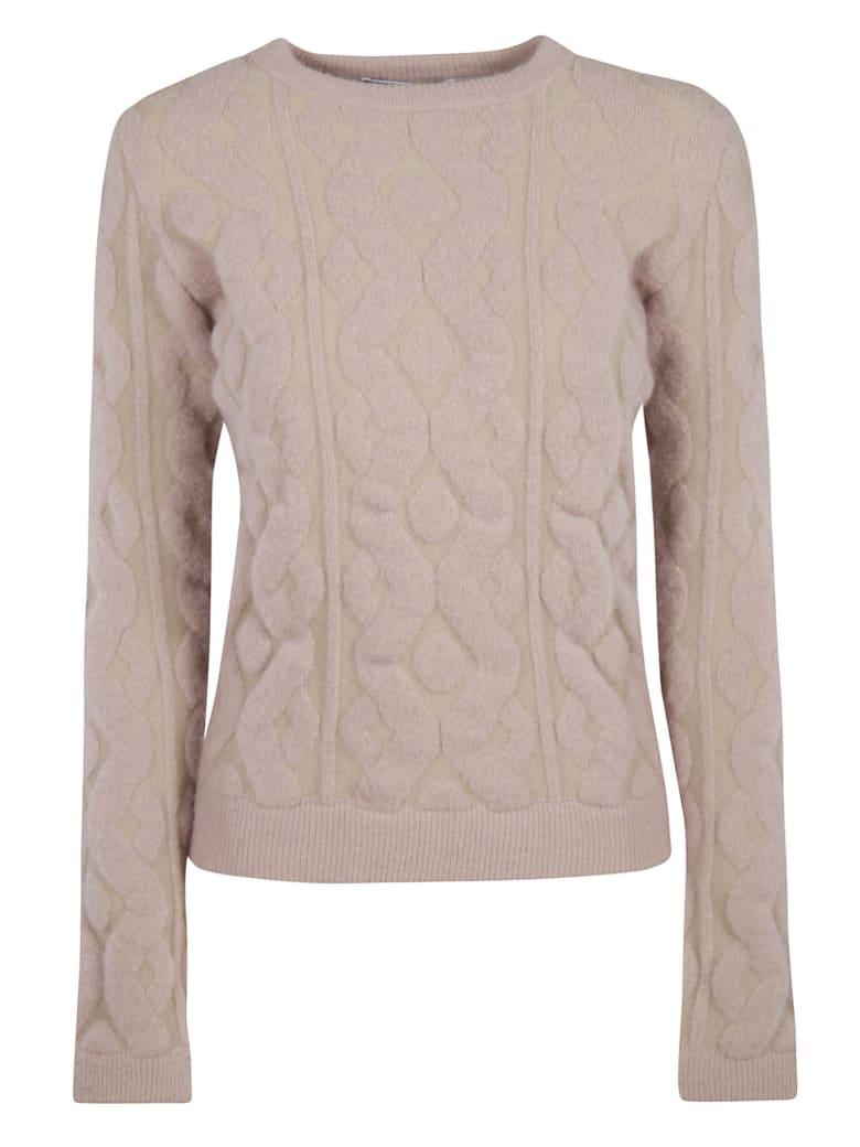 Blumarine Patterned Detail Sweater - pink