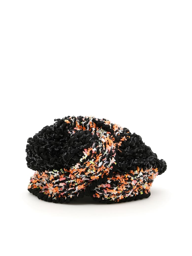 Flapper Vega Turban - BLACK ORANGE (Black)