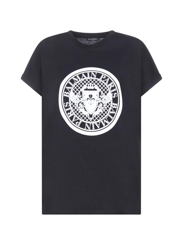 Balmain Short Sleeve T-Shirt - Noir blanc