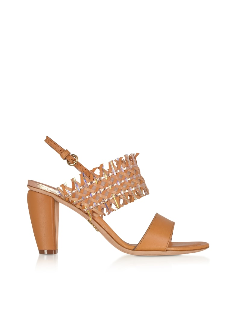 Rodo Cuoio Woven Leather Women's Sandals - Brown
