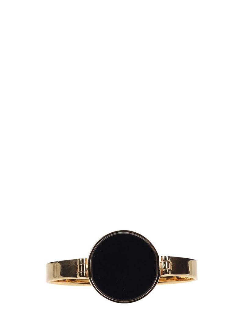 Jil Sander Gold And Black Alloy Bracelet - gold
