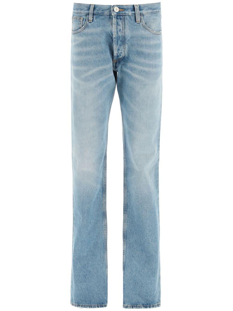 The Attico Super Washed Blue Boyfriend Jeans - BLU SUPER WASHED (Blue)