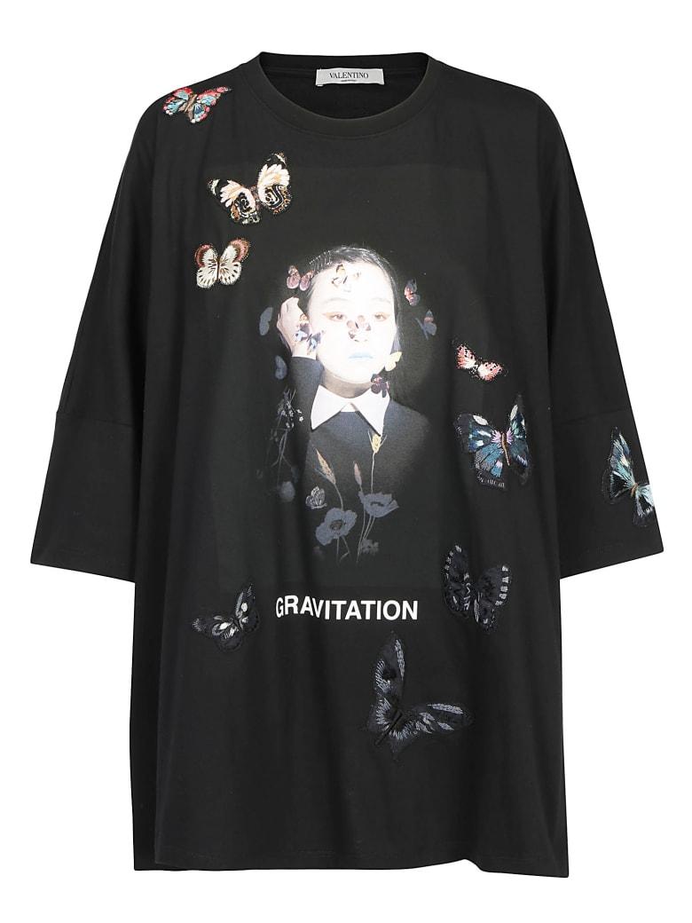 Valentino Izumi Miyazaki Print T-shirt - Nero