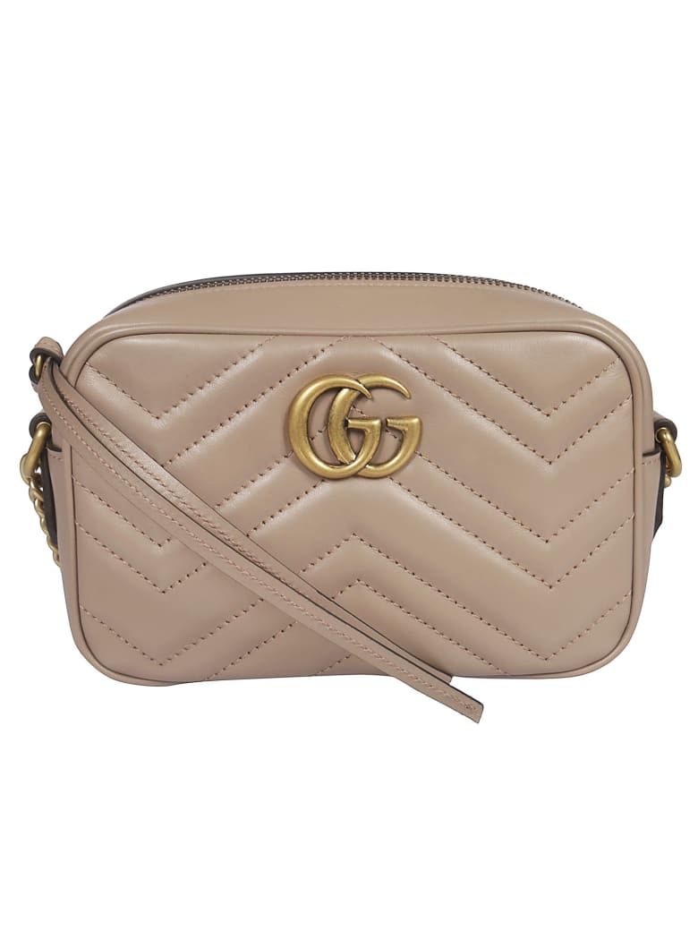Gucci Gg Marmont Mini Shoulder Bag - Porcelain Rose
