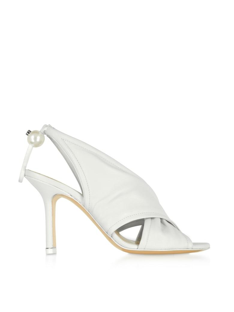 Nicholas Kirkwood White Nappa 90mm Delfi Sandals - White