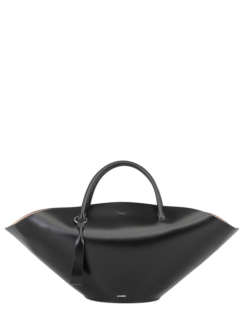 Jil Sander Leather Hand Bag - BLACK