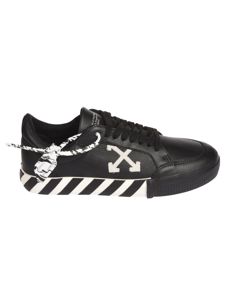 Off-White Vulcanised Striped Sole Low-top Sneakers - Black/White