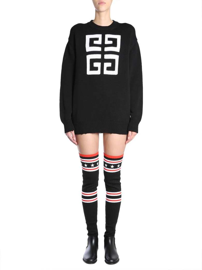 Givenchy Sweater With 4g Logo - NERO
