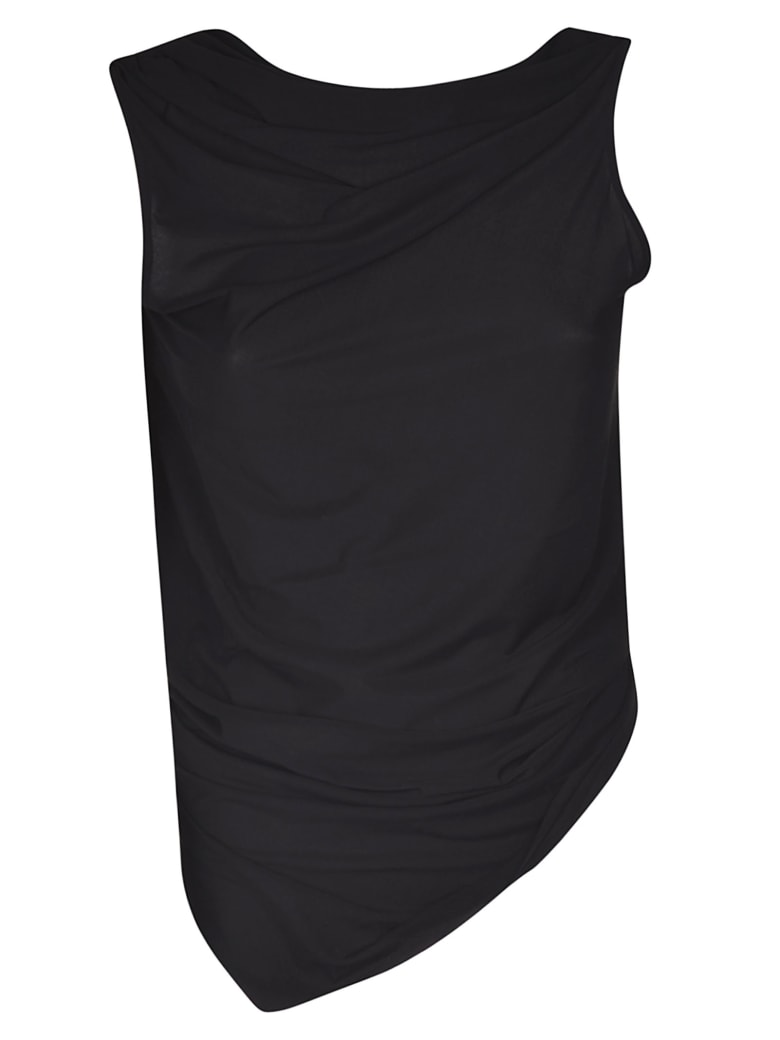 Rick Owens Lilies Open Back Top - Black