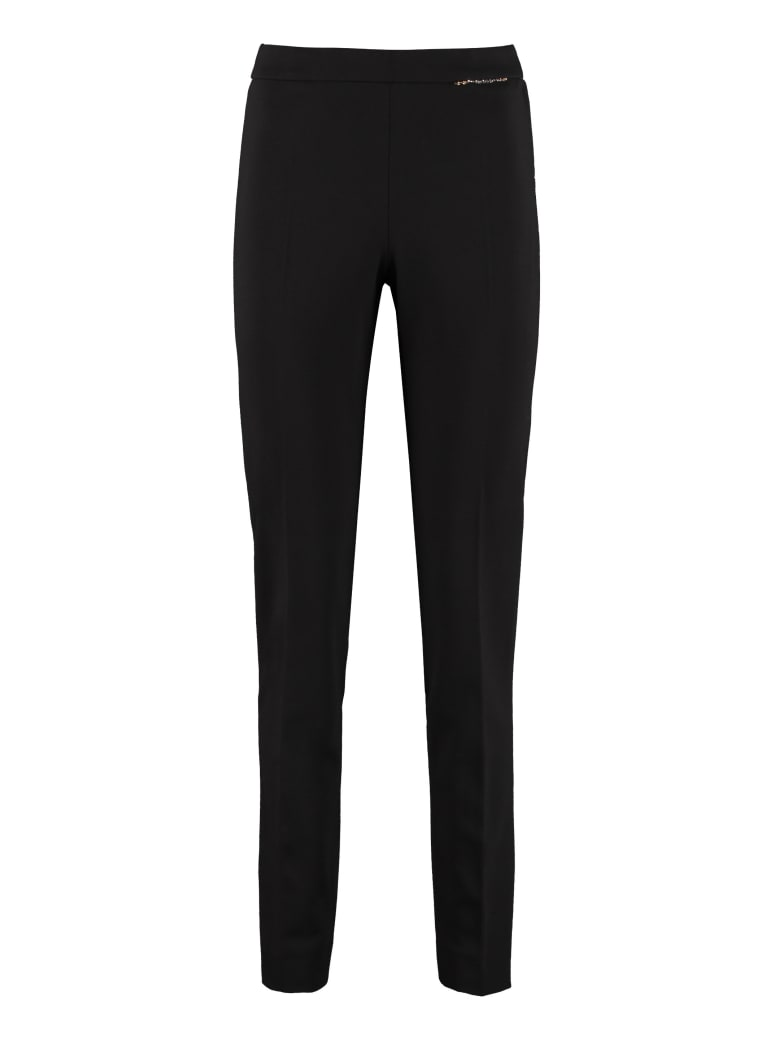 Max Mara Studio Polis Slim Fit Tailored Trousers - black