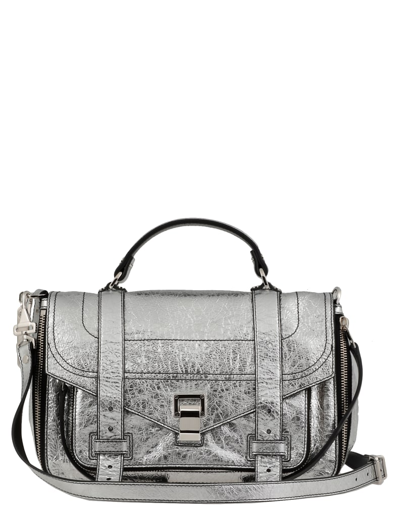 Proenza Schouler Ps1 Medium Plus Satchel - SILVER