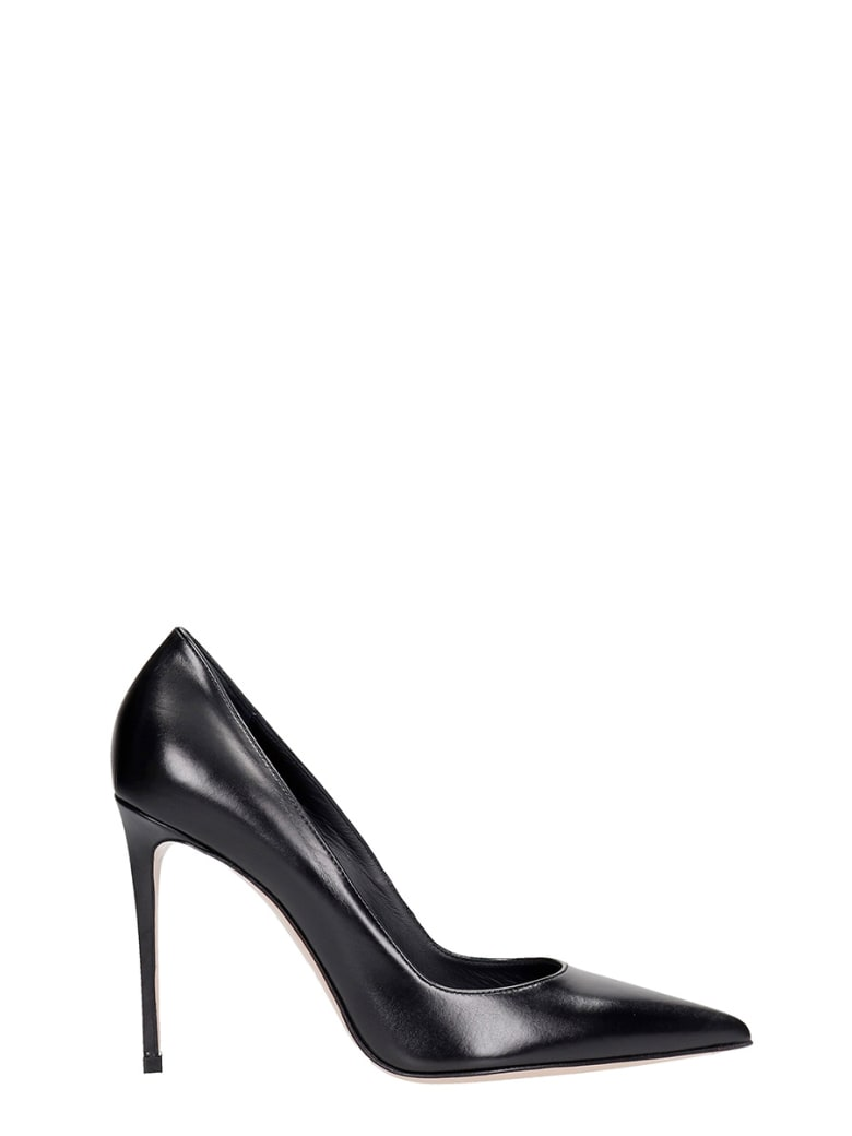 Le Silla Deco Eva 100 Pumps In Black Leather - black