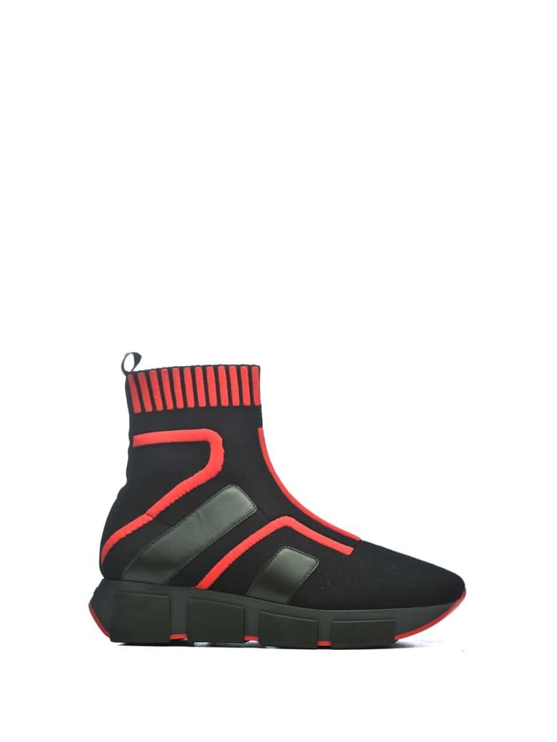 Vic Matié Vic Matié Runnig Socks Sneakers - NERO/ROSSO