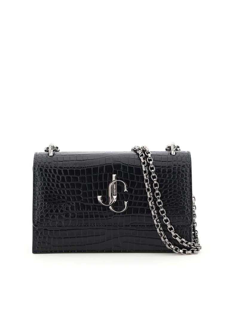 Jimmy Choo Bohemia Croco Print Leather Mini Bag - BLACK (Black)