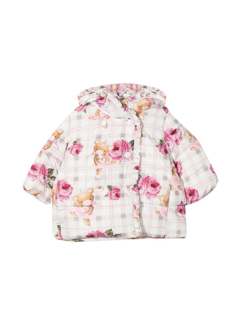 Monnalisa Floral Down Jacket Baby Monnalisa