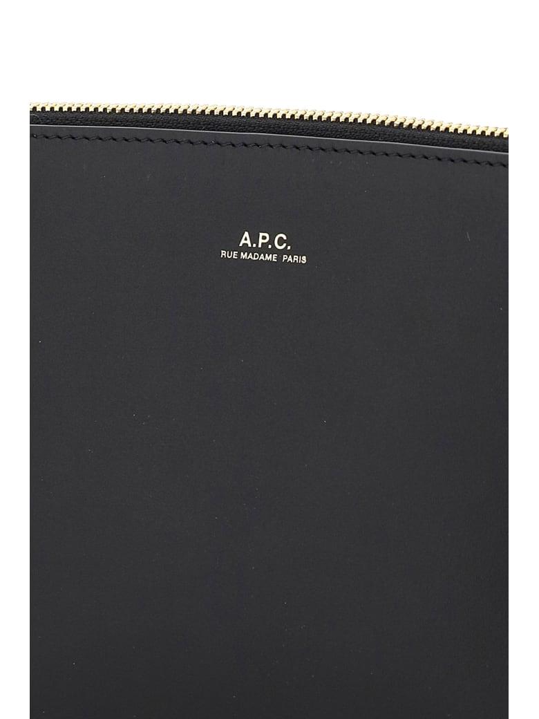 A.P.C. Sarah Leatherclutch - BLACK