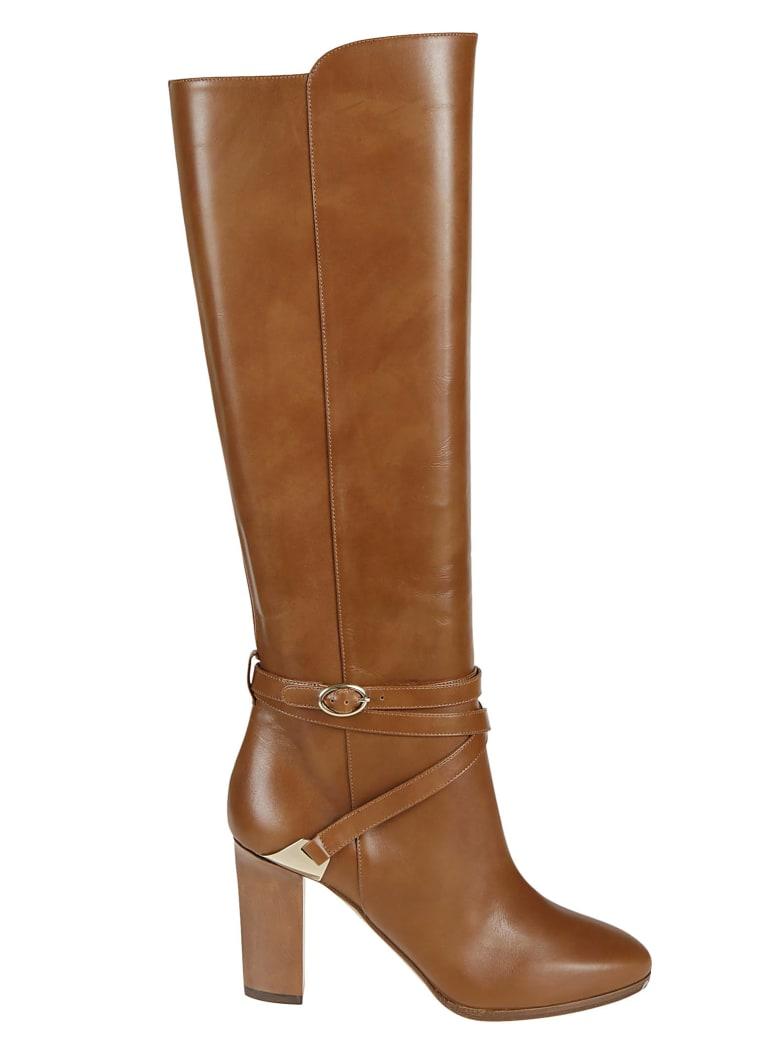 Aquazzura Ankle Strap Over-the-knee Boots - Cuoio