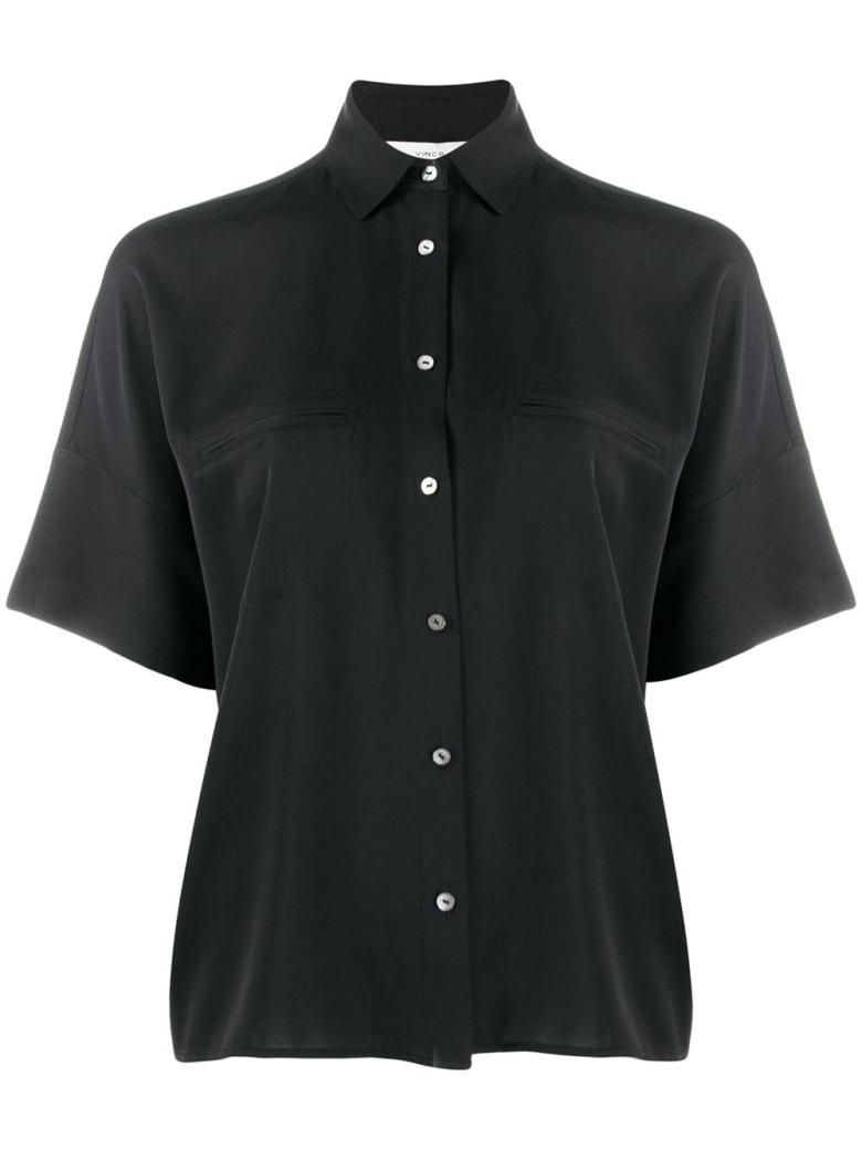 Vince Short Wide Sleeve Blouse - Black
