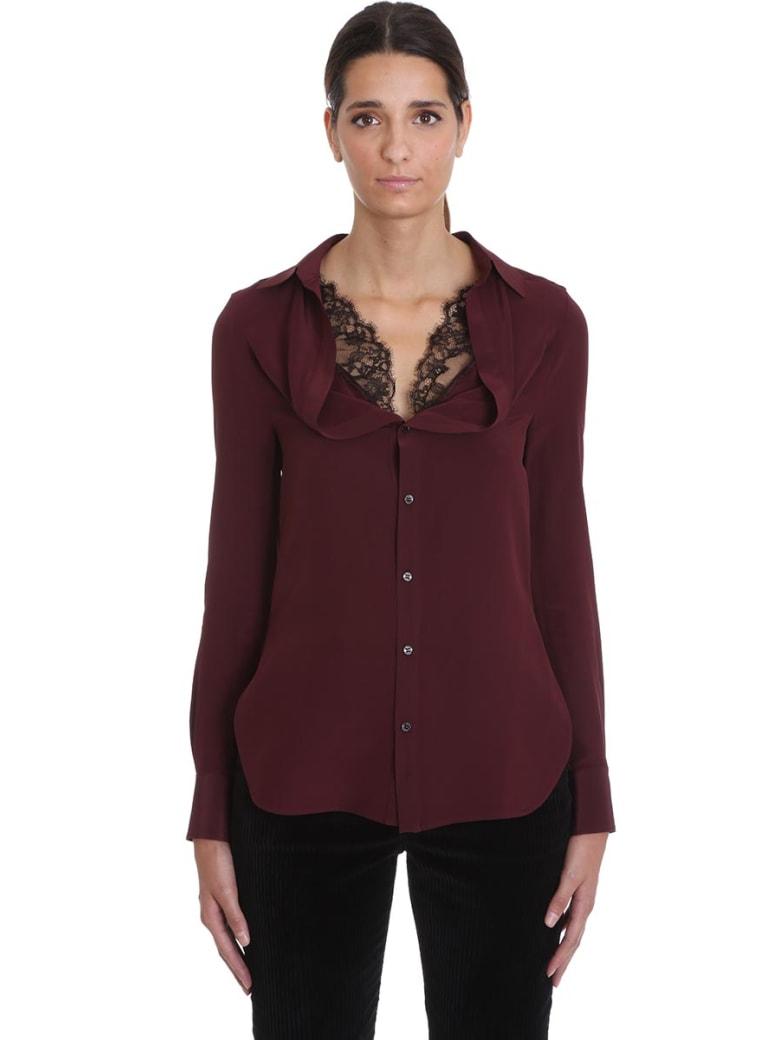 Neil Barrett Shirt In Bordeaux Silk - bordeaux