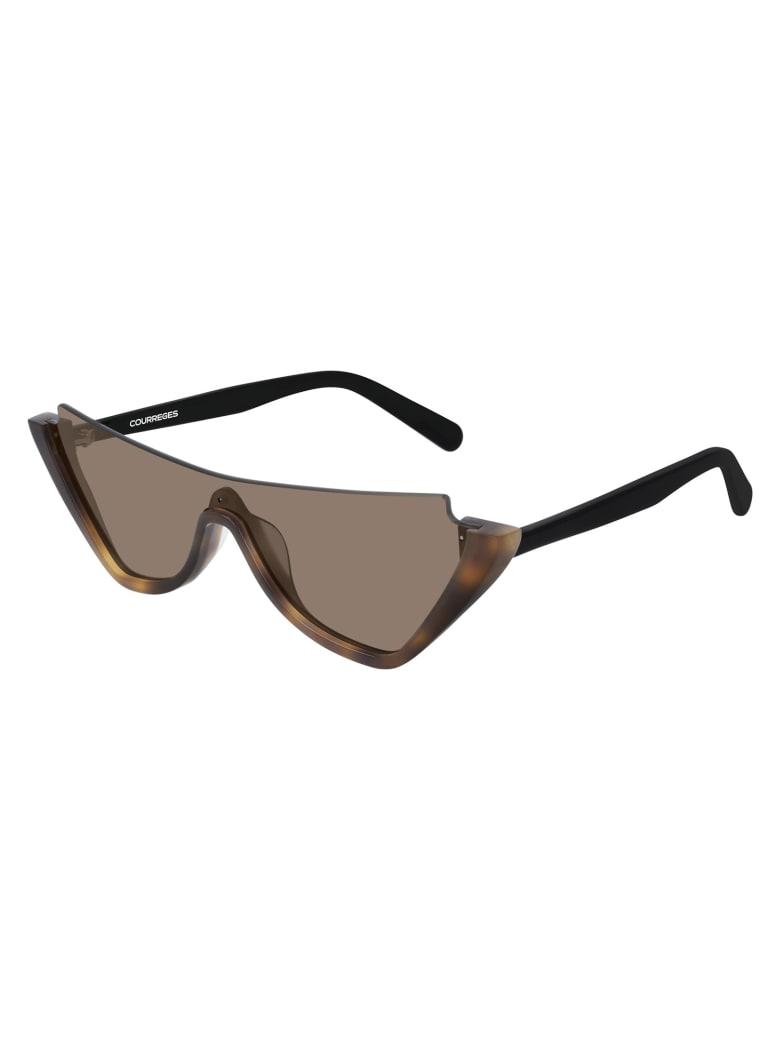 Courrèges CL1910 Sunglasses - Havana Black Brown