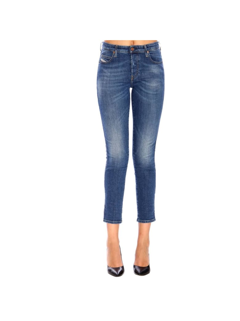 Diesel Jeans Babhila Regular Classic Stretch Jeans With 5 Pockets - denim