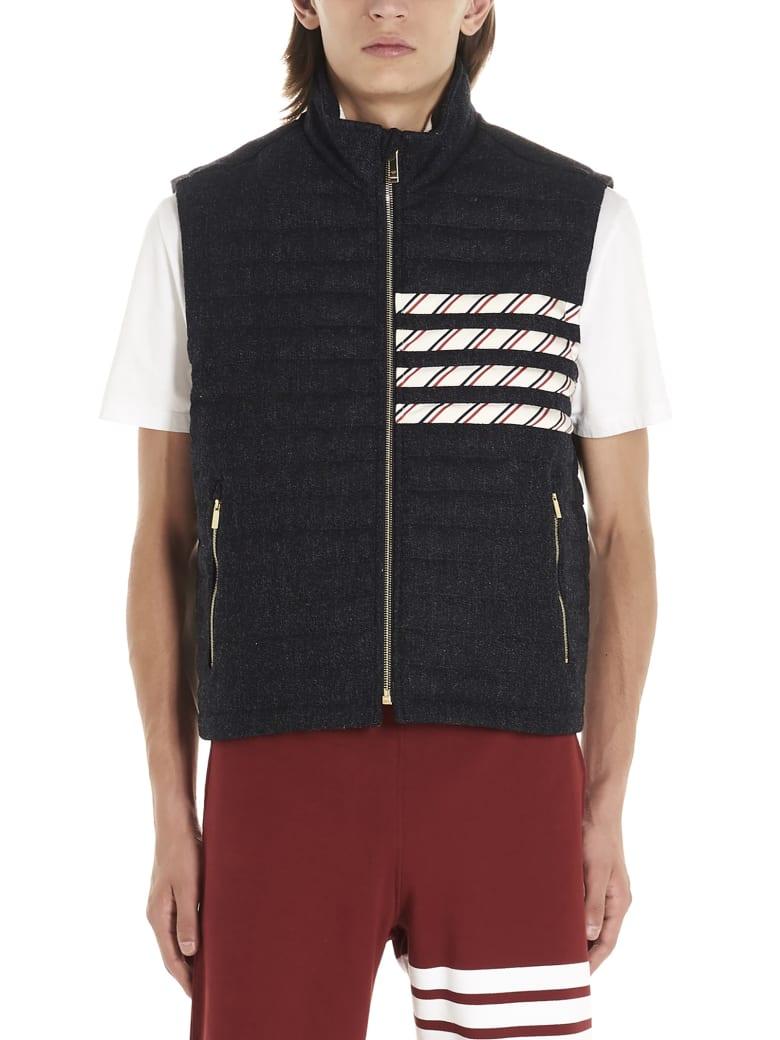 Thom Browne '4 Bar Stripes' Vest - Blue