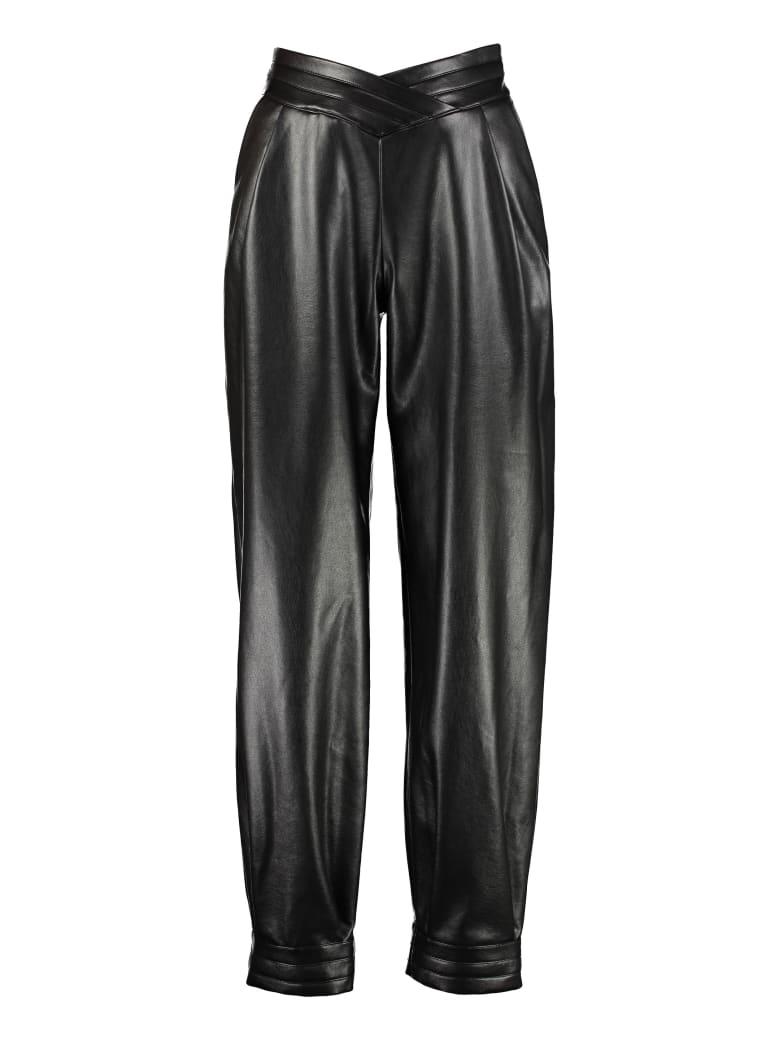 Giuseppe di Morabito Faux Leather Trousers - black