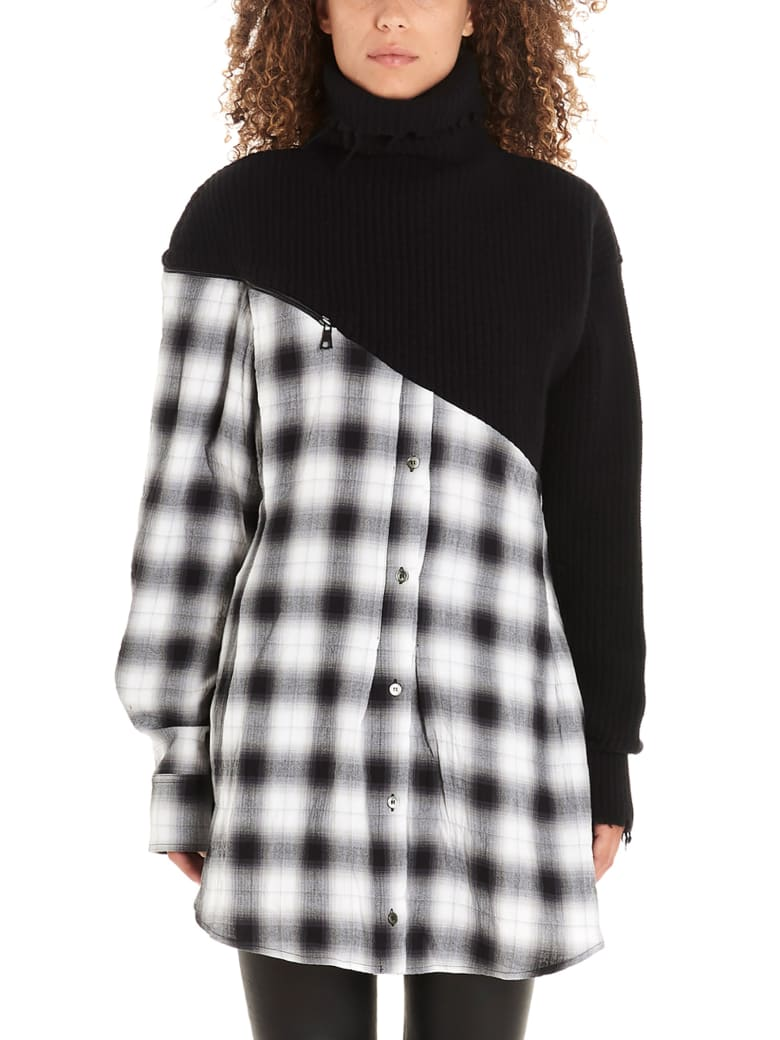 Ben Taverniti Unravel Project 'hibryd' Dress - Black&White