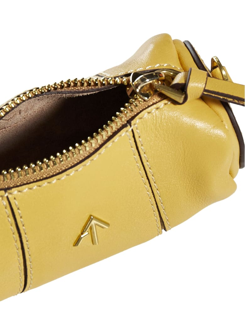 MANU Atelier Cylinder Micro Leather Bag - Lemon sorbet