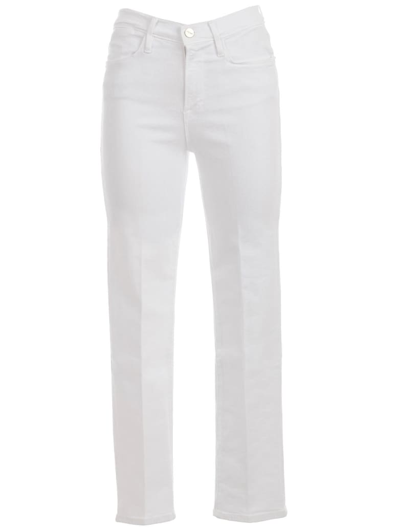 Frame Le High Straight Jeans - Blanc