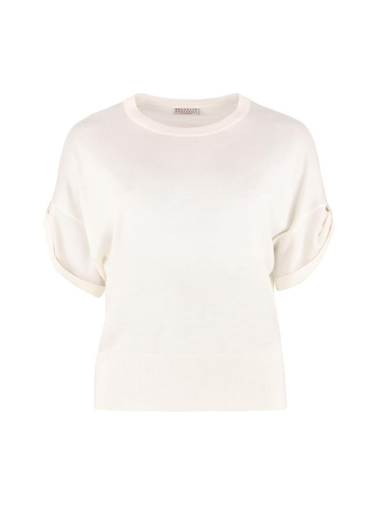 Brunello Cucinelli Cashmere-silk Blend Pullover - panna