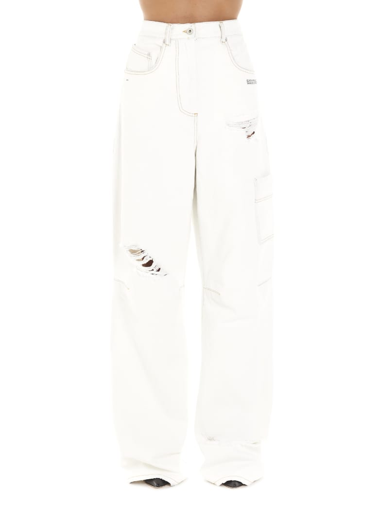 Off-White 'oversize Tomboy' Jeans - White