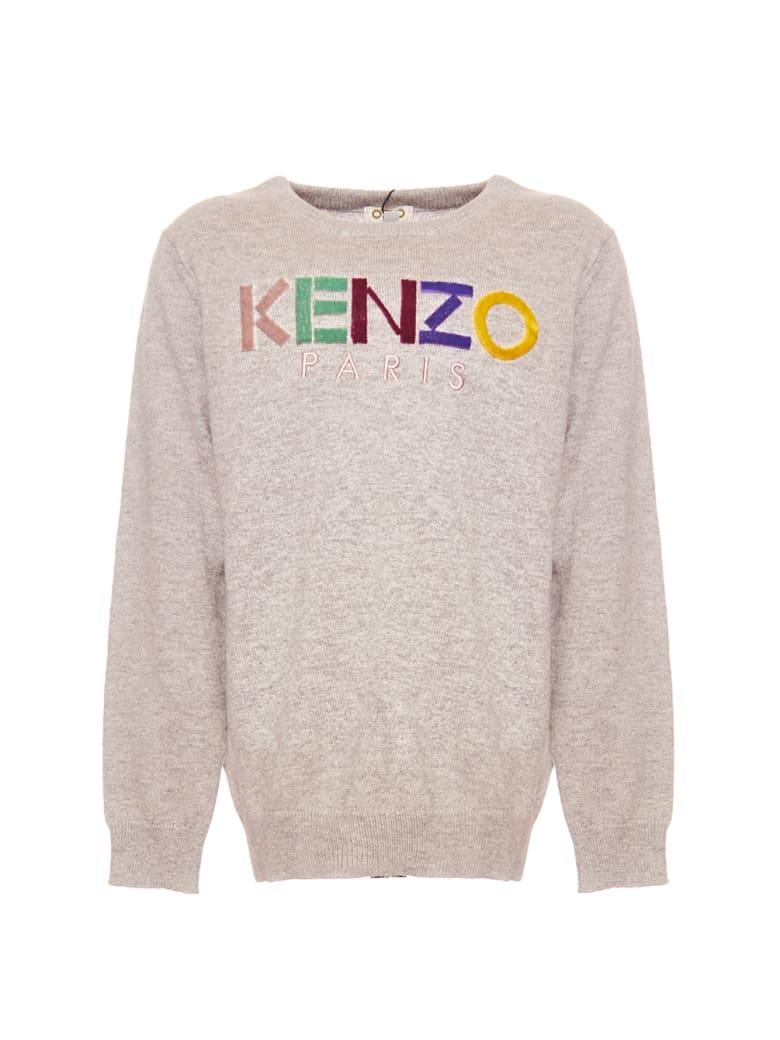Kenzo Logo Jg Pull - Marl Grey