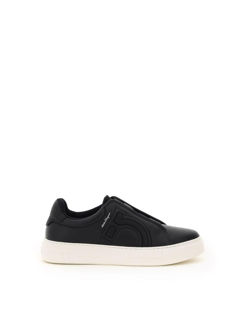 Salvatore Ferragamo Tasko Slip-on Sneakers - BLACK (Black)