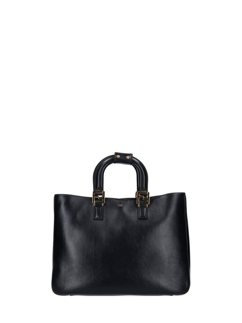 Fendi Medium Gloria Tote Bag - Black