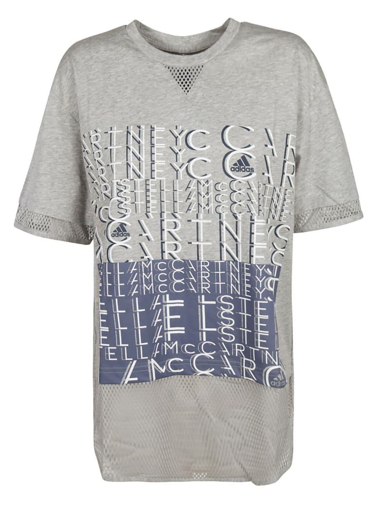 Adidas Front Logo Print T-shirt - grey