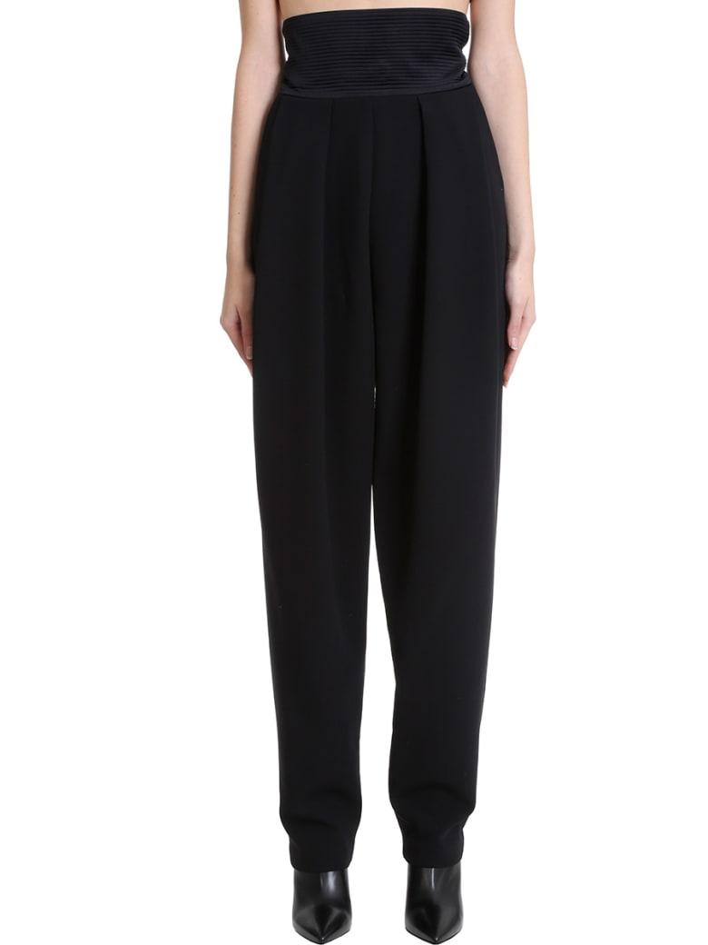 Magda Butrym Pants In Black Cotton - black