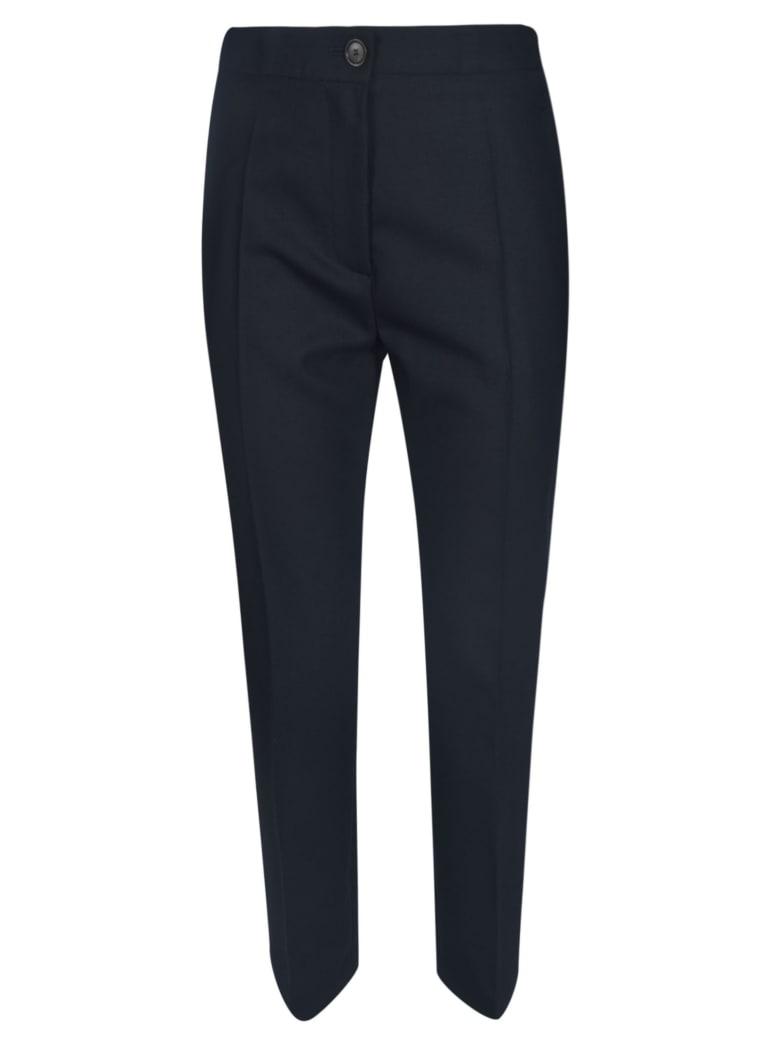 Erika Cavallini Wide Buttoned Trousers - Blue