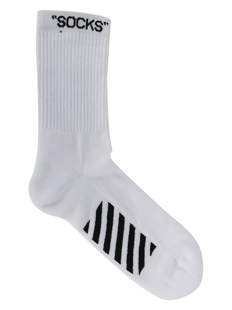 Off-White Socks - White black