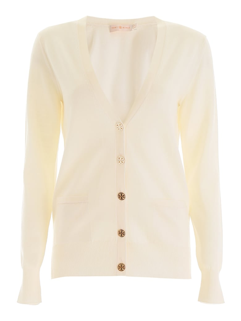 Tory Burch Buttoned Cardigan - NEW IVORY (White)