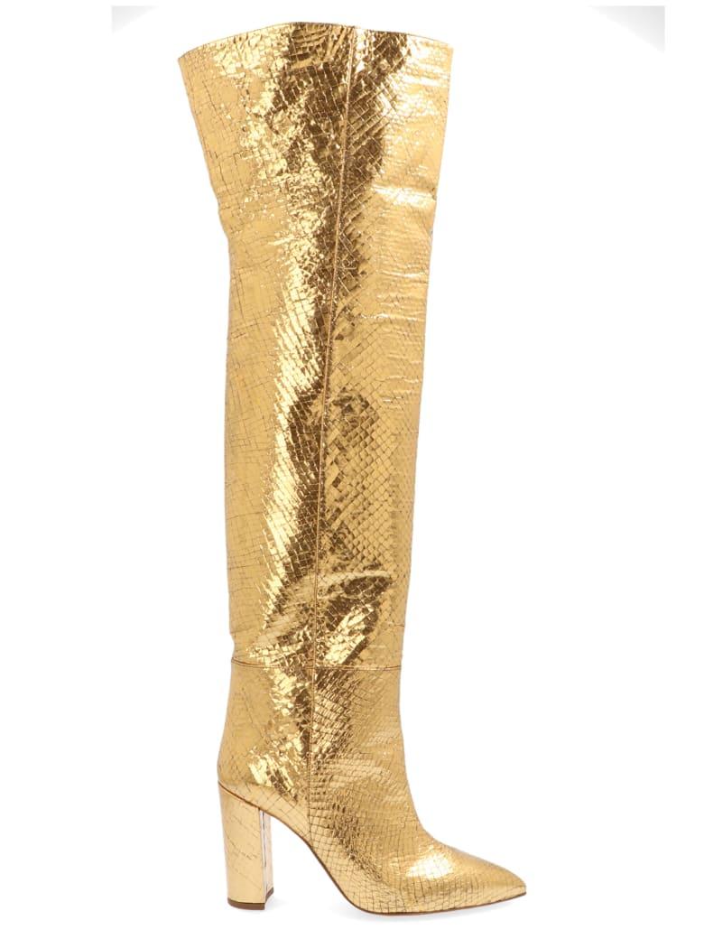 Paris Texas 'metallic Snake' Shoes - Gold