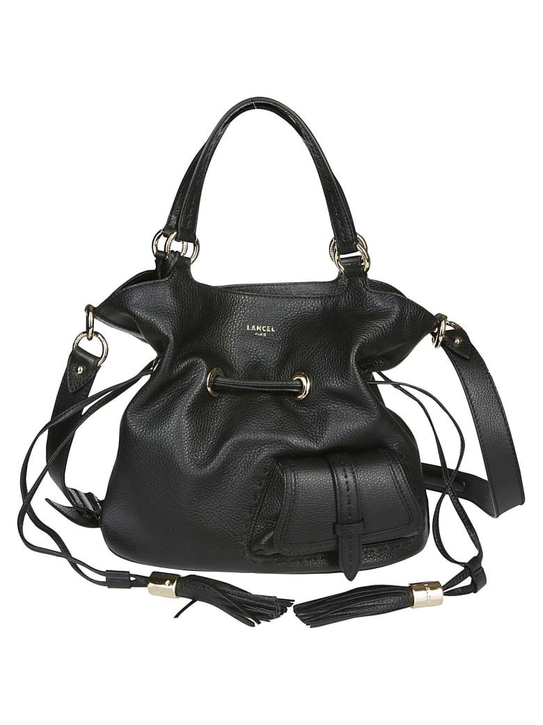 Lancel Black Leather Shoulder Bag - Black