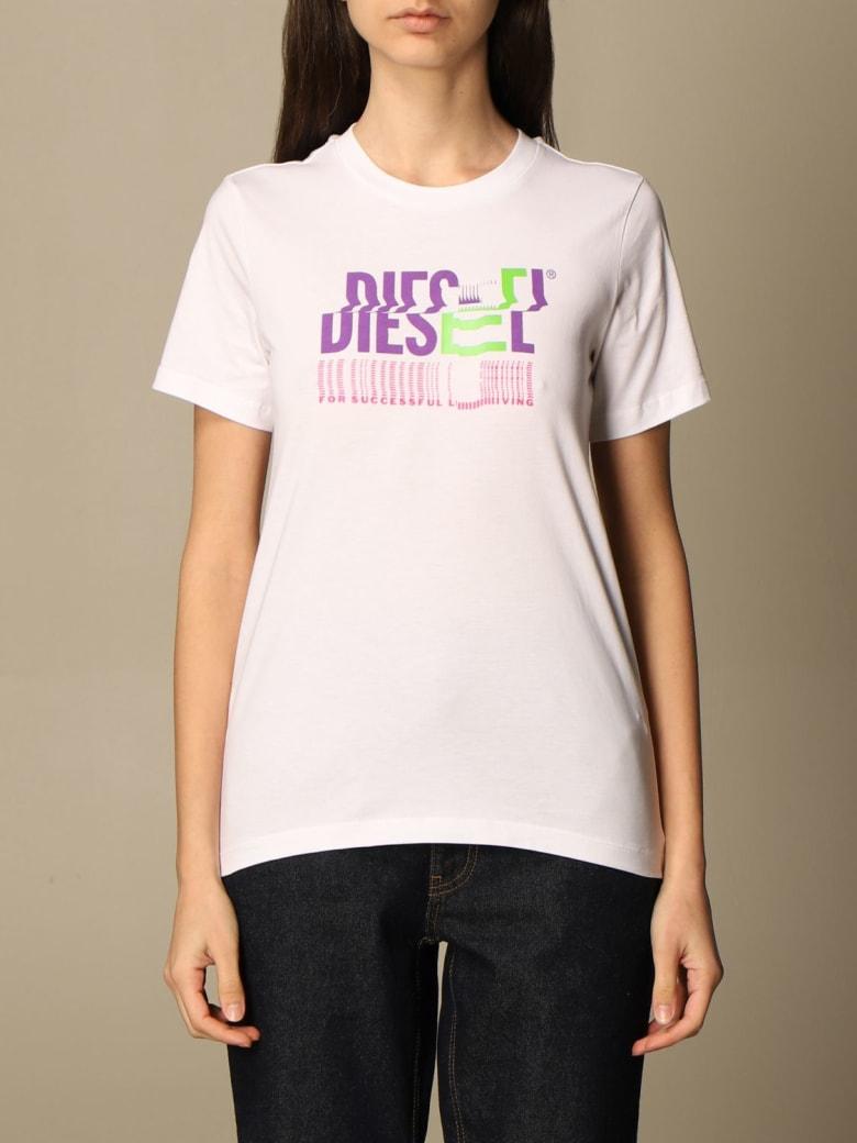 Diesel T-shirt Diesel Cotton T-shirt With Logo - White