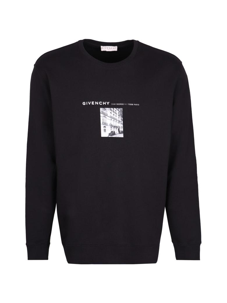 Givenchy Printed Cotton Sweatshirt - black